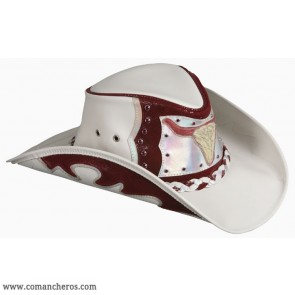 Red Leather Country Hat