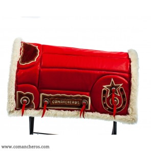 Red Leather Saddle Pad