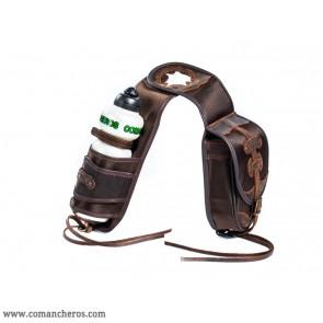 Saddlebag with bottle holder