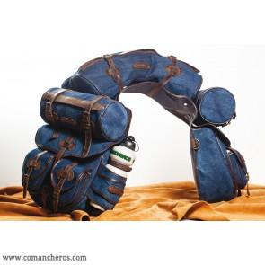 Large complete rear  denim Saddle bag for Trekking Saddle