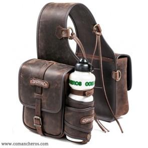 Small rear leather saddlebag