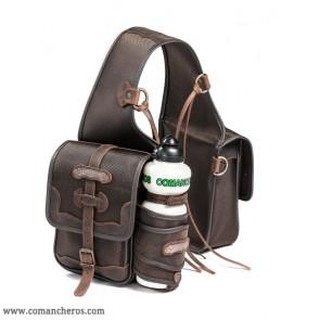 Small saddlebag with bottle holder