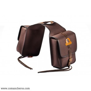 Square double pommel bags