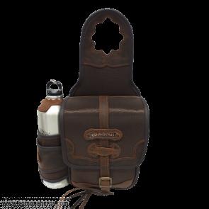 Square saddlebag with bottle holder
