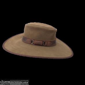 Suede buckaroo hat