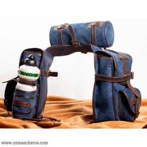 Trekking saddlebags in denim