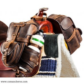 Trekking saddlebags in leather
