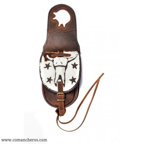 Western Long Horn saddlebag