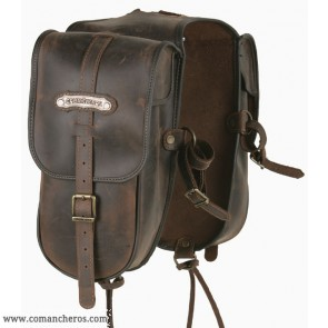 Western pommel bag in leather