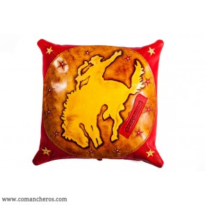 Western Show Leather Pillow