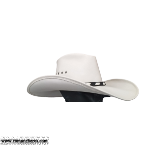 White leather hat