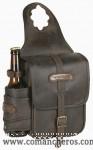 Leather Horn saddle bag Comancheros with bottle